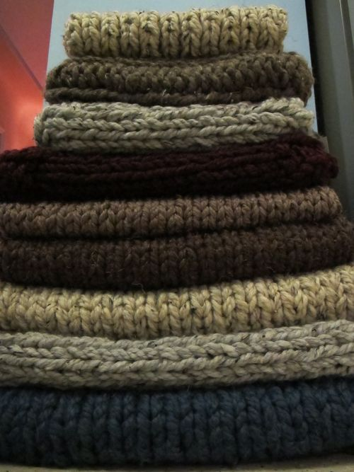 chunky knit cowls