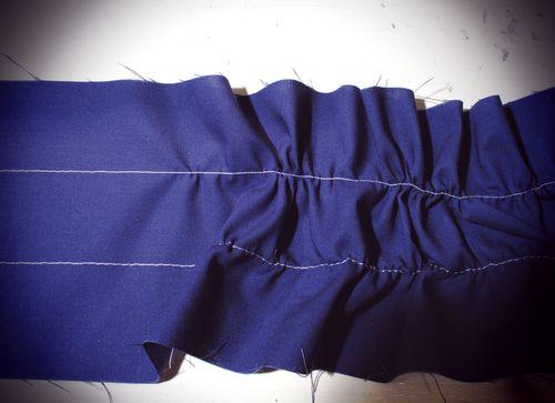 gathered fabric