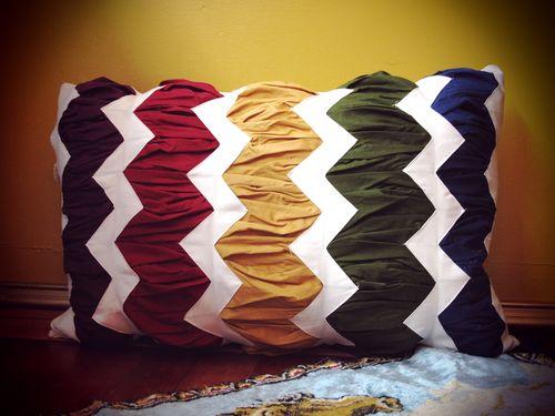 chevron stripe pillow