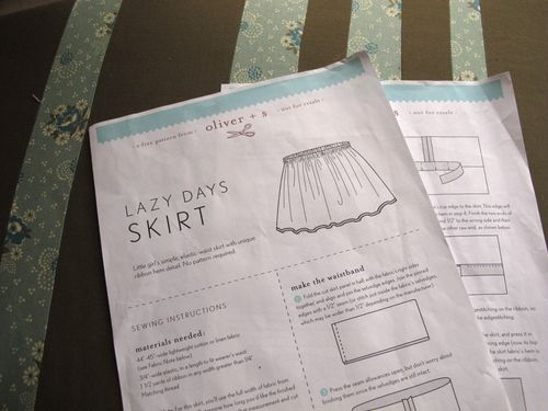 oliver + s lazy days skirt pattern