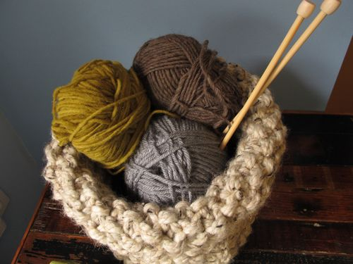 knit basket tutorial