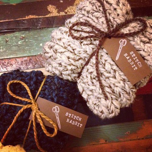 stitch rabbit knit cowl
