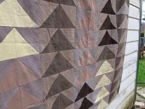naural dye quilt