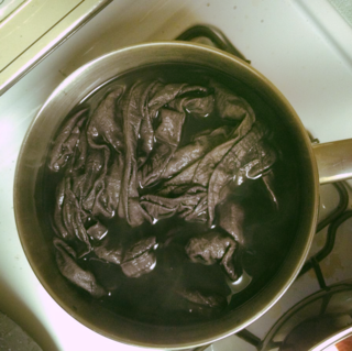 iron, natural dyeing