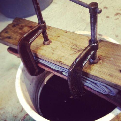 shibori clamping